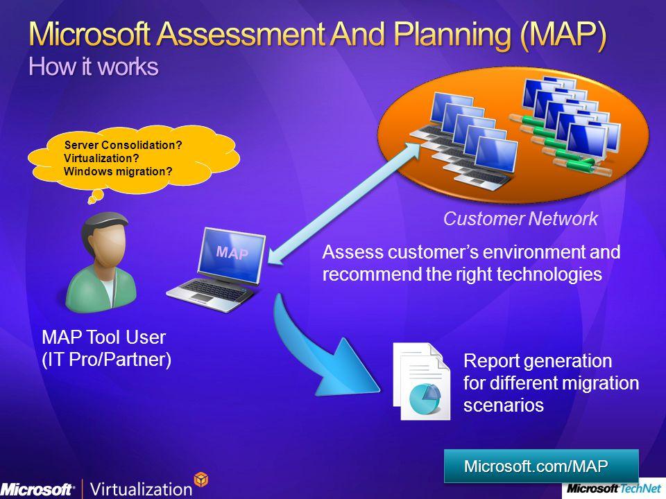 Sin agente Permisos Redes Escalable Base de datos Pocos requisitos Microsoft.com/MAP