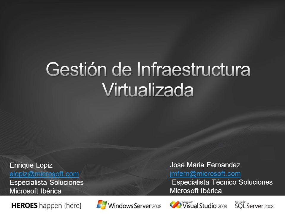 Enrique Lopiz elopiz@microsoft.com Especialista Soluciones Microsoft Ibérica Jose Maria Fernandez jmfern@microsoft.com jmfern@microsoft.com Especialis