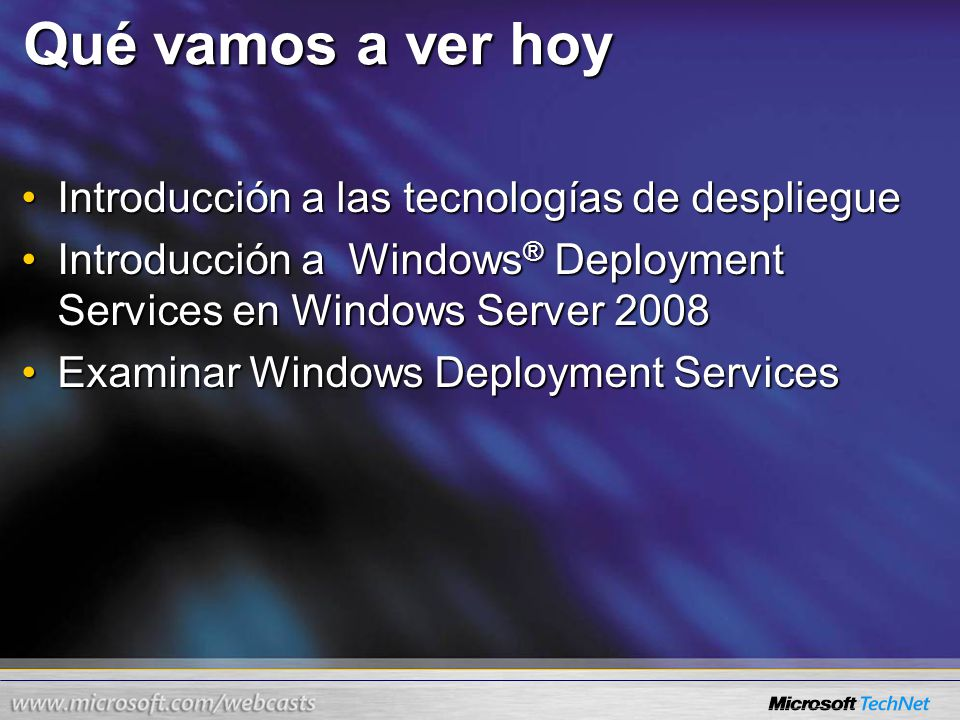 Windows PE Windows Deployment Services