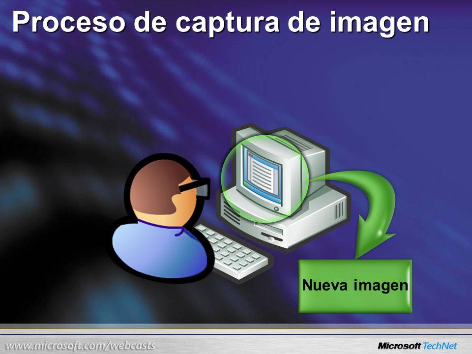 Proceso de captura de imagen Nueva imagen