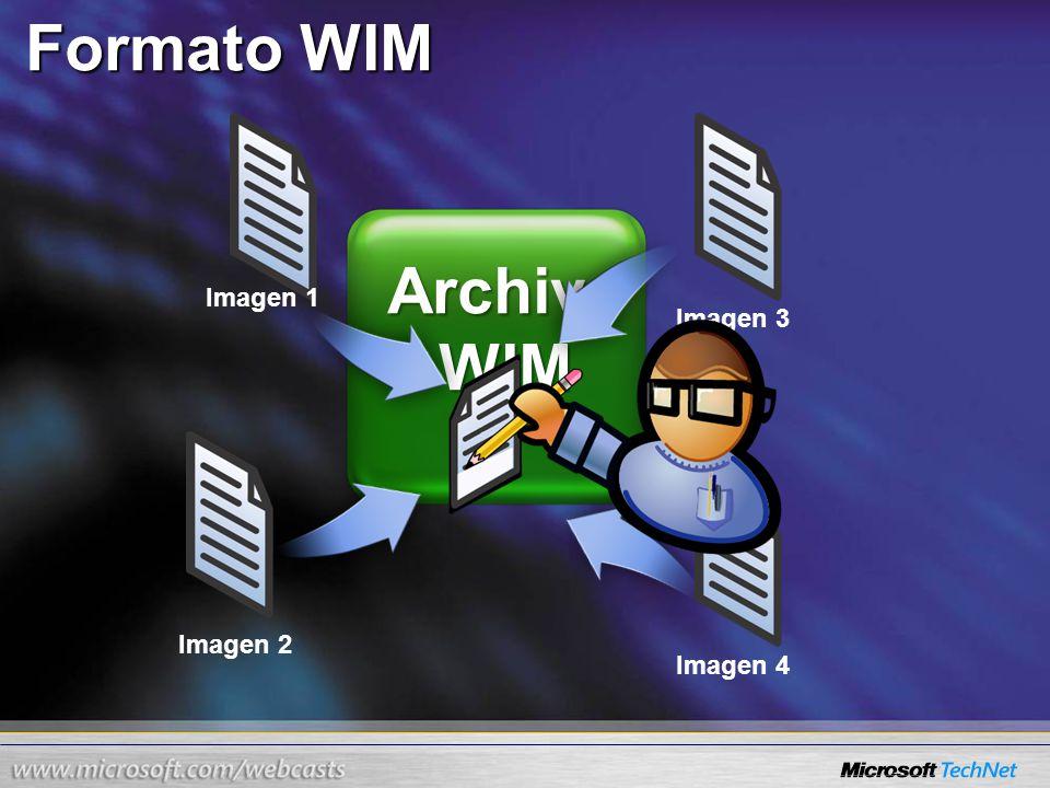 Archivo WIM Formato WIM Imagen 1 Imagen 4 Imagen 3 Imagen 2