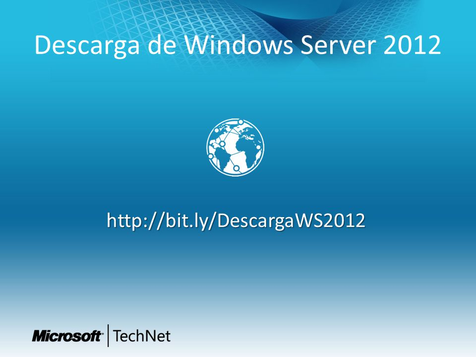 Descarga de Windows Server 2012 http://bit.ly/DescargaWS2012