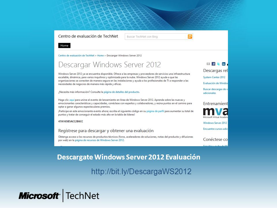 Descargate Windows Server 2012 Evaluación http://bit.ly/DescargaWS2012