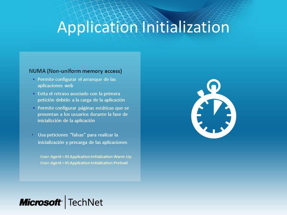 CPU Throttling Permite gestionar el consumo de CPU de los procesos de un Application Pool Especialmente indicado para entornos multi- tenant, para evitar que una aplicación acapare todos los recursos Ayuda a mantener los niveles de servicio Dos nuevos modos para limitar el consumo de CPU Throttle ThrottleUnderLoad