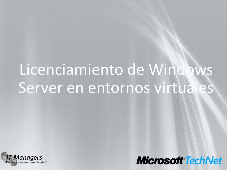 Licenciamiento de Windows Server en entornos virtuales
