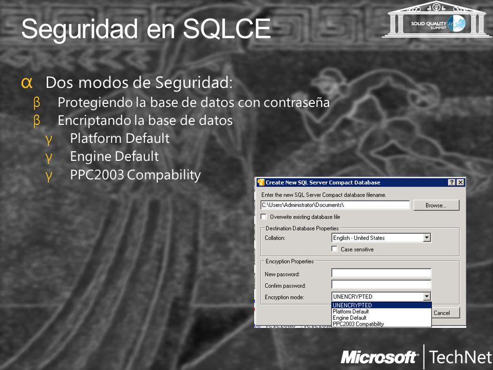Seguridad en SQLCE