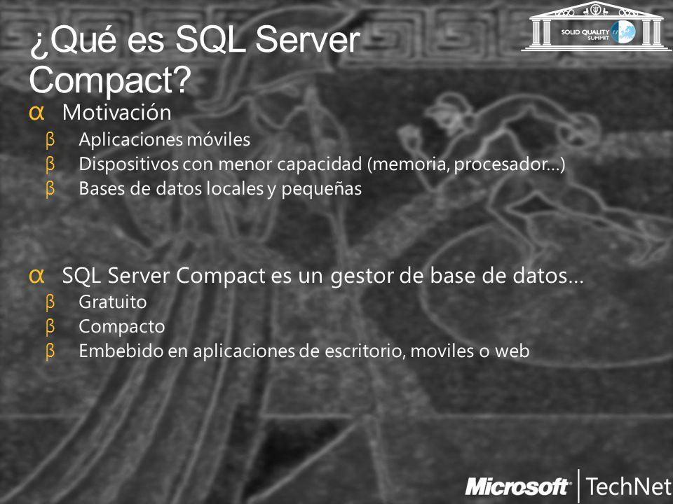¿Qué es SQL Server Compact?