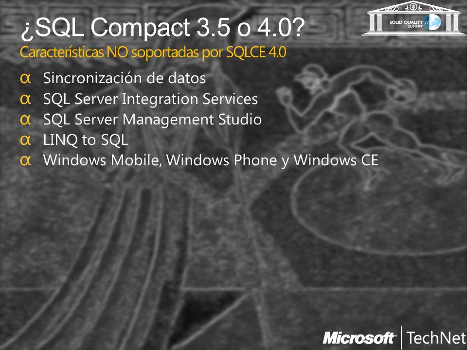 Creando bases de datos SQL Compact 3.5 y 4.0