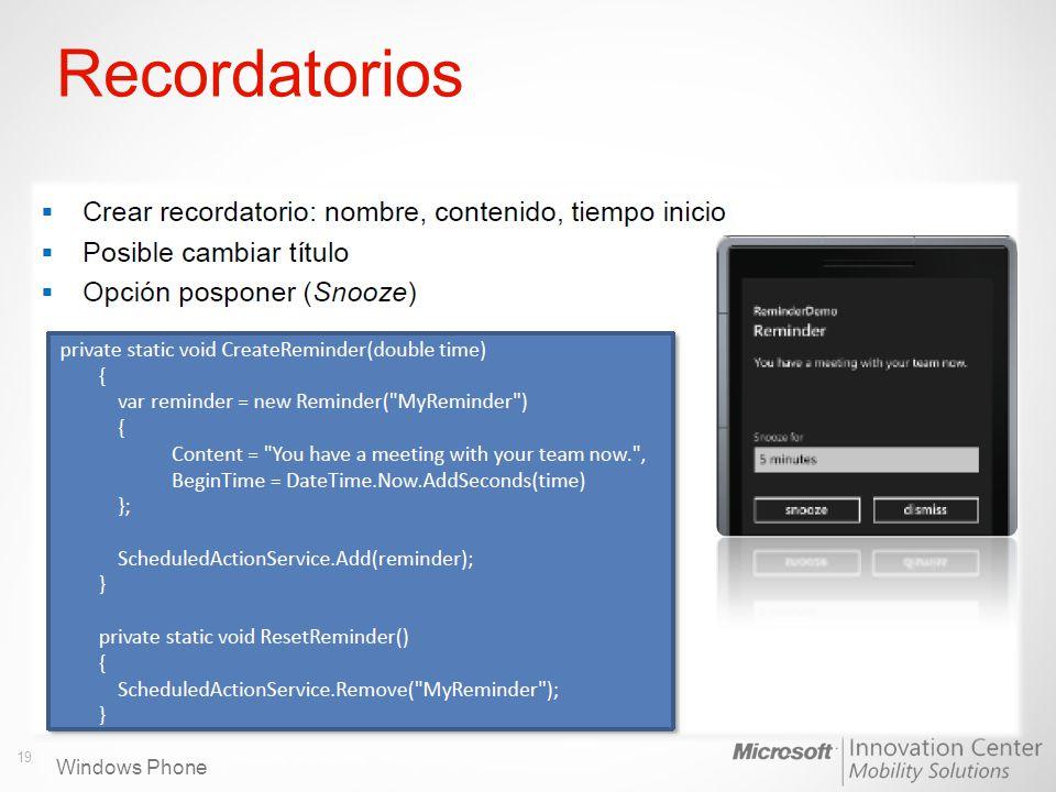 Windows Phone Recordatorios 19