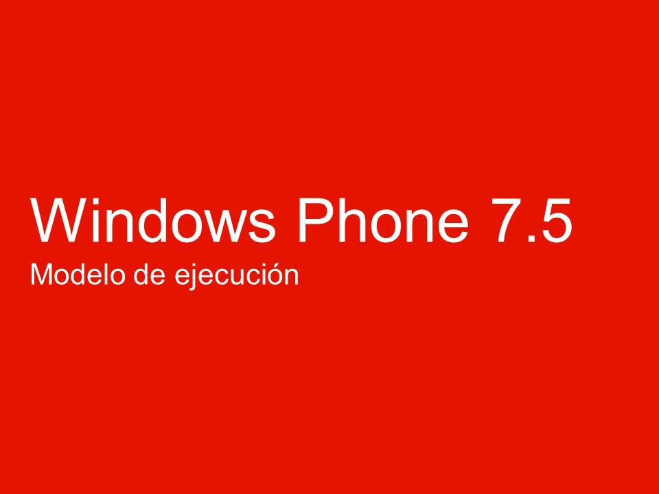 Windows Phone Tipos de agentes Agentes Periodicos Ocurrencia – Cada 30 min Duración – ~15 seconds Restricciones – <= 6 MB Memoria – <=10% CPU Agentes de Recursos Intensivos Ocurrencia Fuente externa Red no celular Duración 10 minutos Restricciones <= 6 MB Memoria 13 Windows Phone