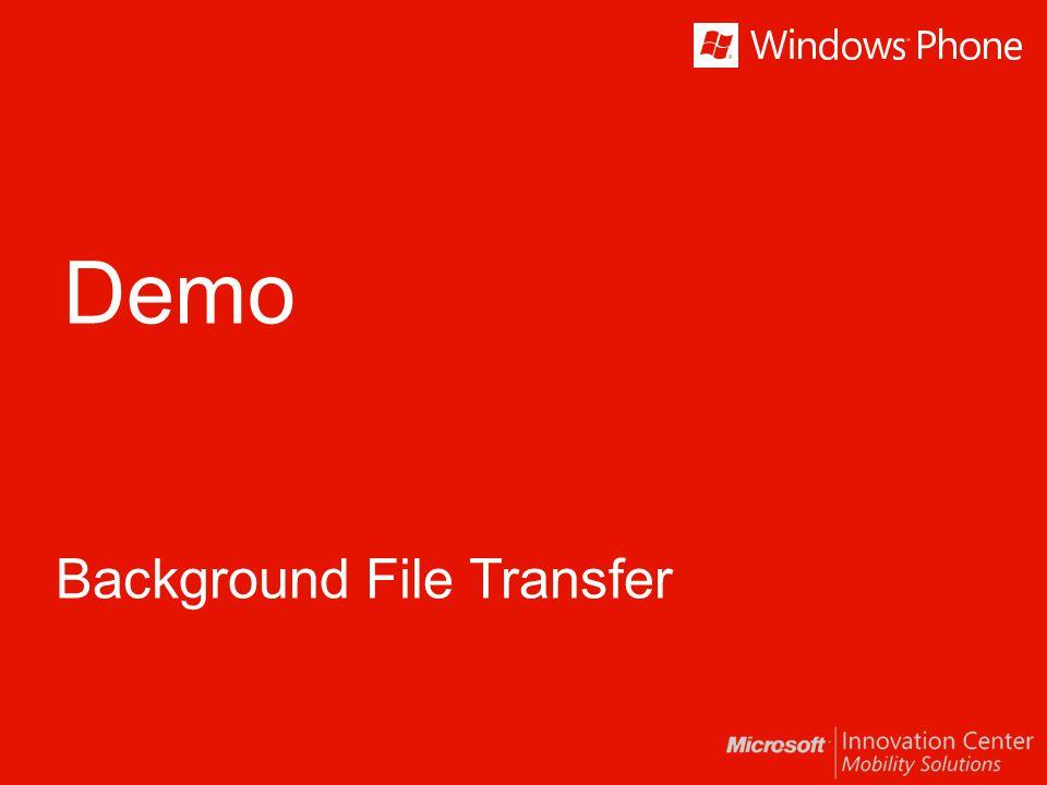 Demo Background File Transfer