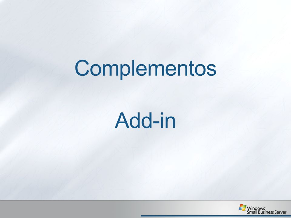 Complementos Add-in