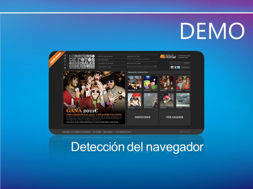 Detección del navegador DEMO