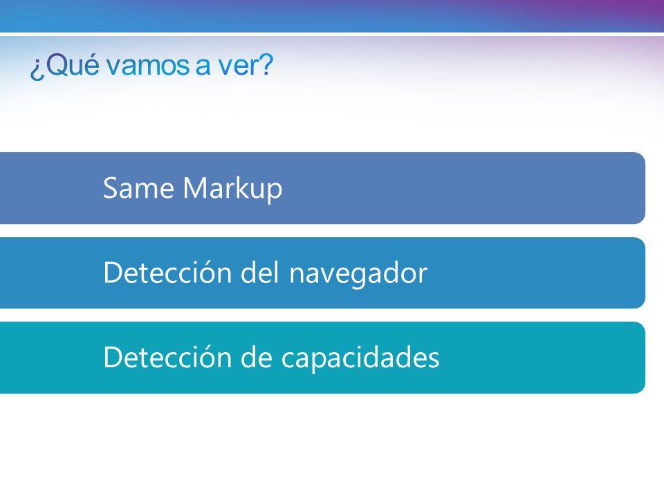 Same MarkupDetección del navegadorDetección de capacidades