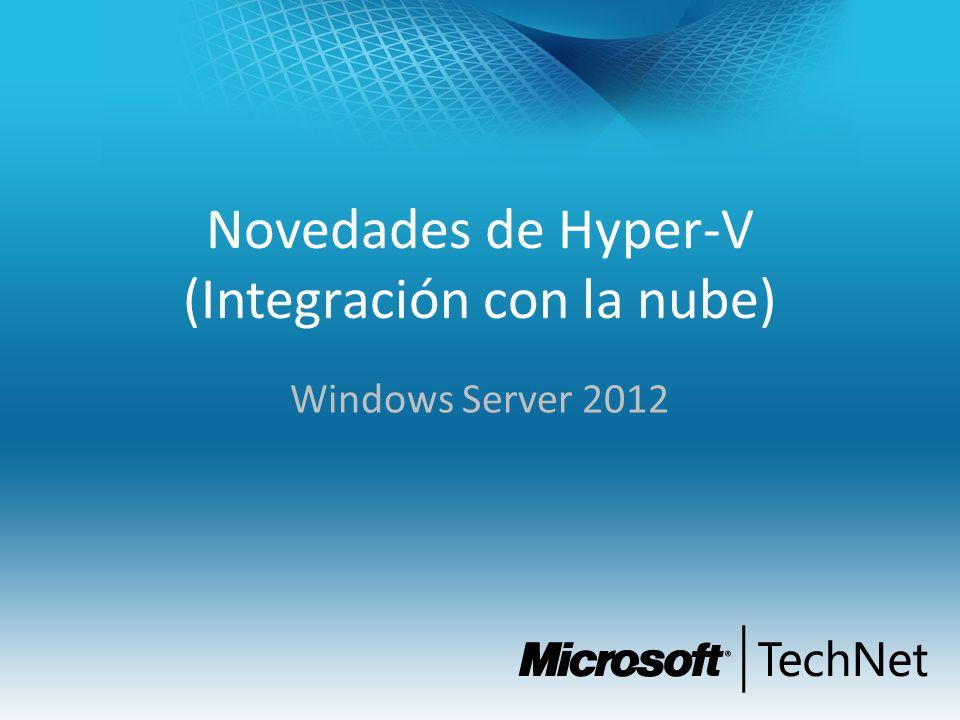 Novedades de Hyper-V (Integración con la nube) Windows Server 2012