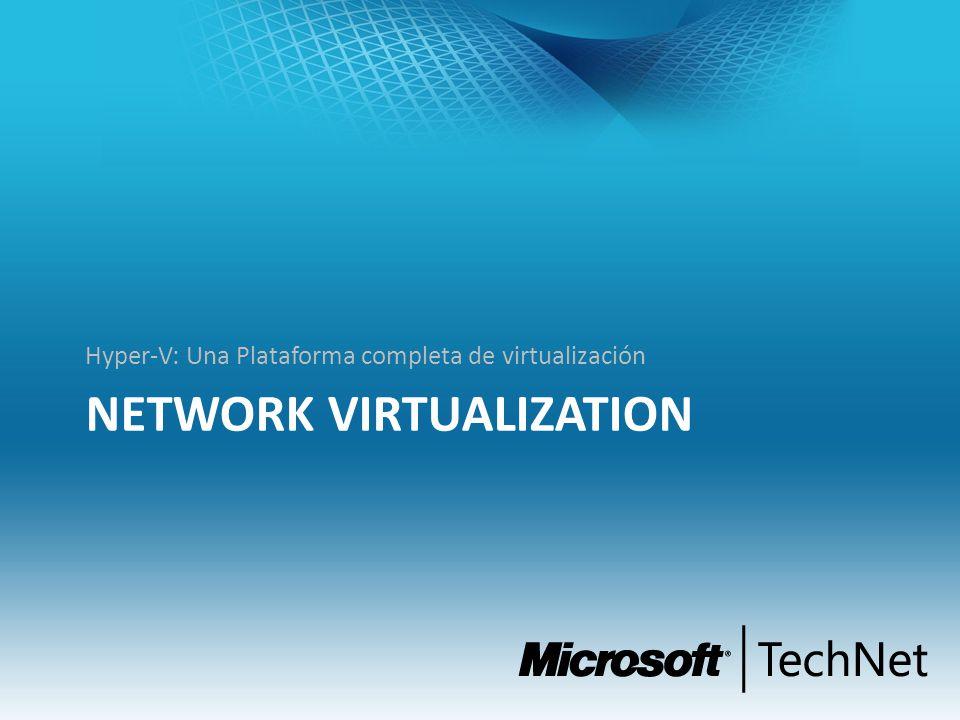 NETWORK VIRTUALIZATION Hyper-V: Una Plataforma completa de virtualización