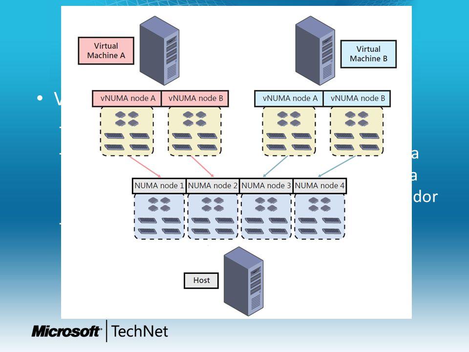 Procesador y Memoria II Virtual NUMA – Non-Uniform Memory Access – NUMA permite optimizar el uso de la memoria por parte de los procesadores basándose