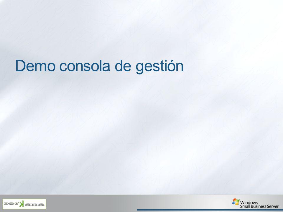 Demo consola de gestión