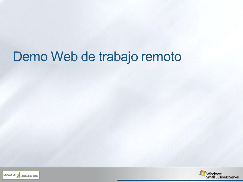 Demo Web de trabajo remoto