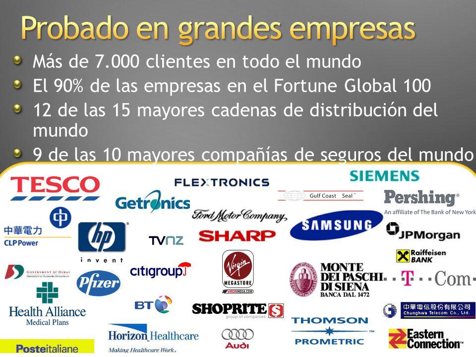 Su Negocio Conectado Más de 7.000 clientes en todo el mundo El 90% de las empresas en el Fortune Global 100 12 de las 15 mayores cadenas de distribuci