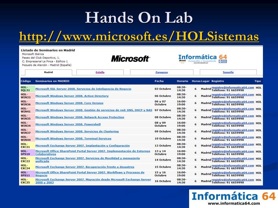 Hands On Lab http://www.microsoft.es/HOLSistemas http://www.microsoft.es/HOLSistemas