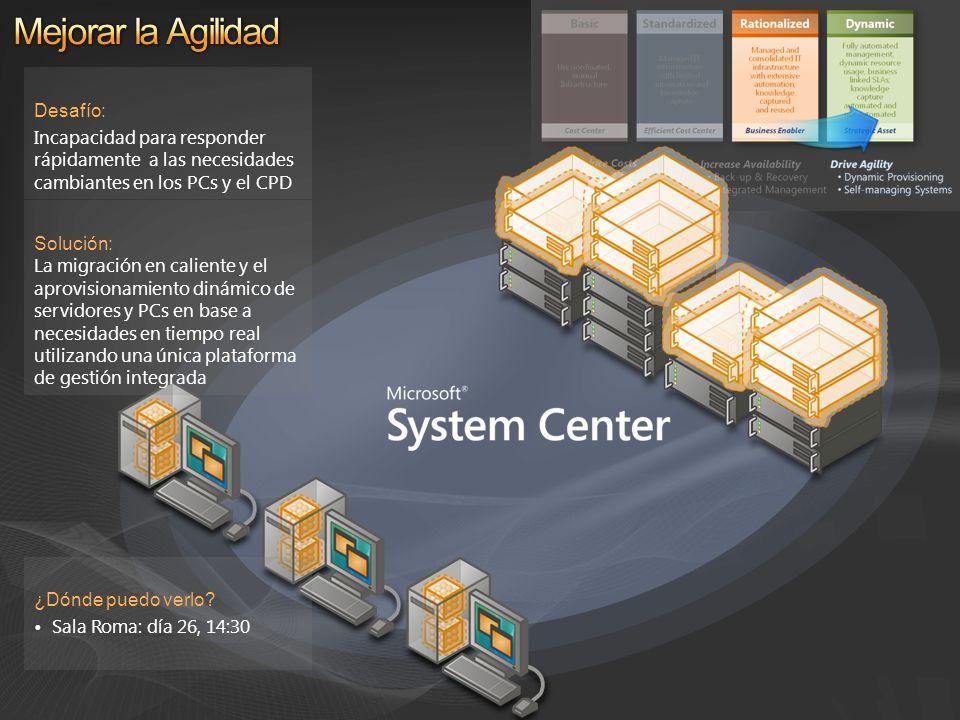 Solución: La migración en caliente y el aprovisionamiento dinámico de servidores y PCs en base a necesidades en tiempo real utilizando una única plata