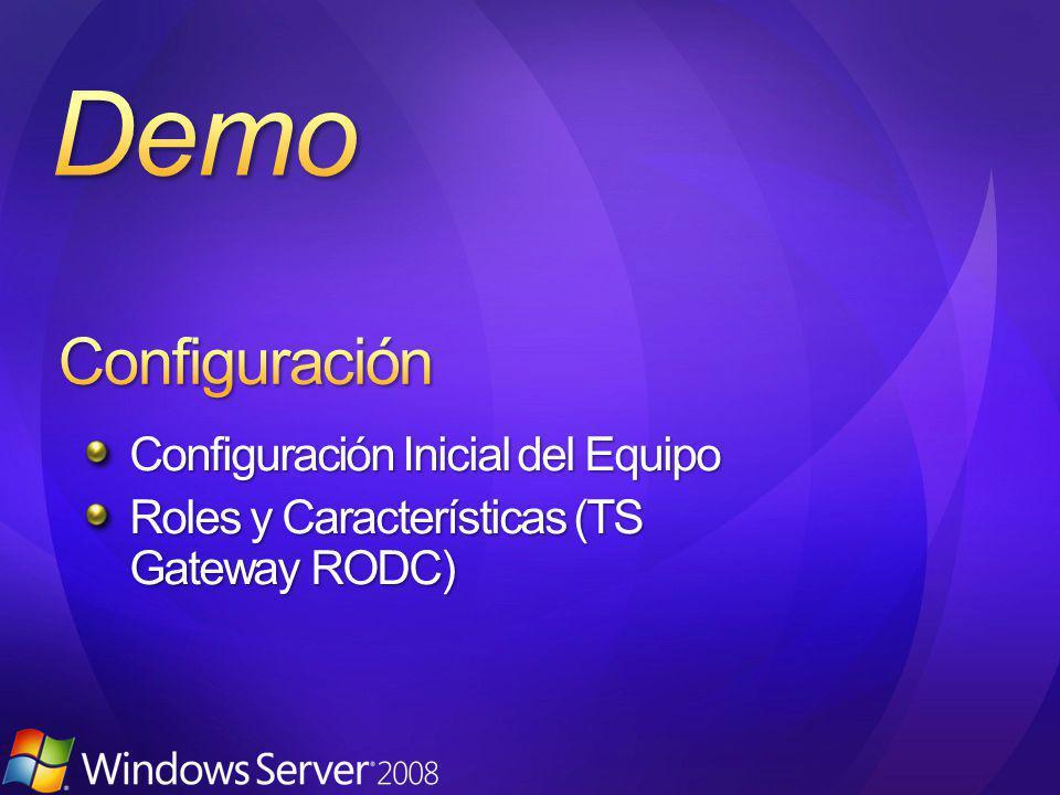 Configuración Inicial del Equipo Roles y Características (TS Gateway RODC)