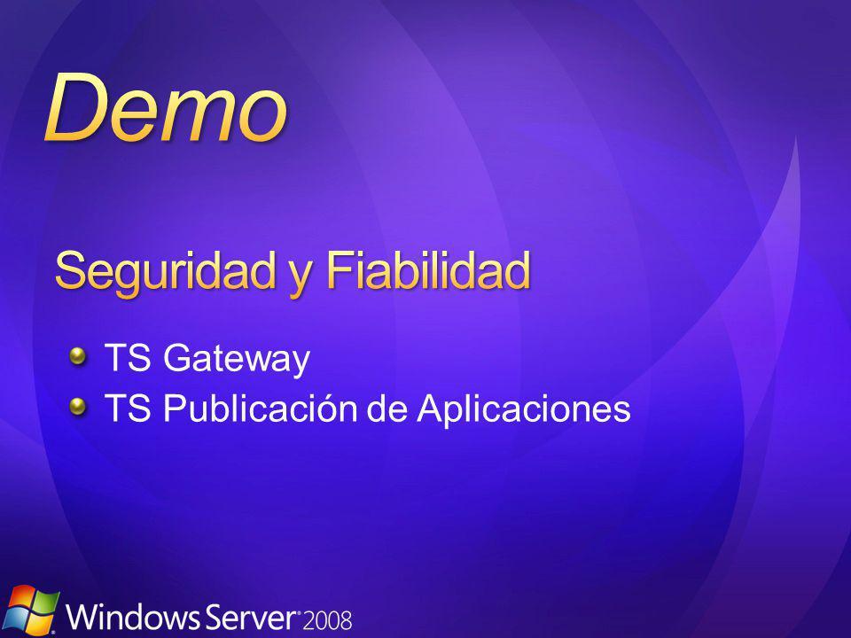 TS Gateway TS Publicación de Aplicaciones
