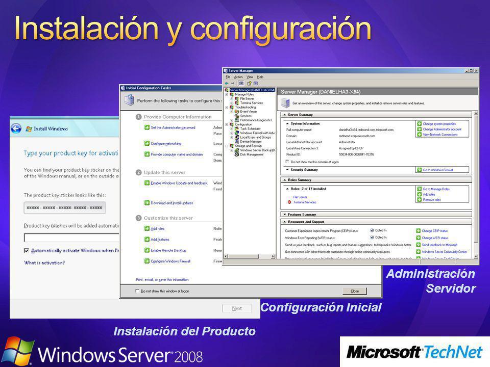 Instalación del Producto Configuración Inicial Administración Servidor