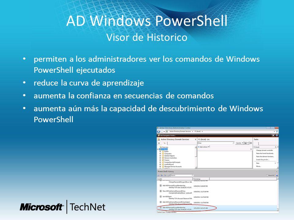 AD Windows PowerShell Visor de Historico permiten a los administradores ver los comandos de Windows PowerShell ejecutados reduce la curva de aprendiza