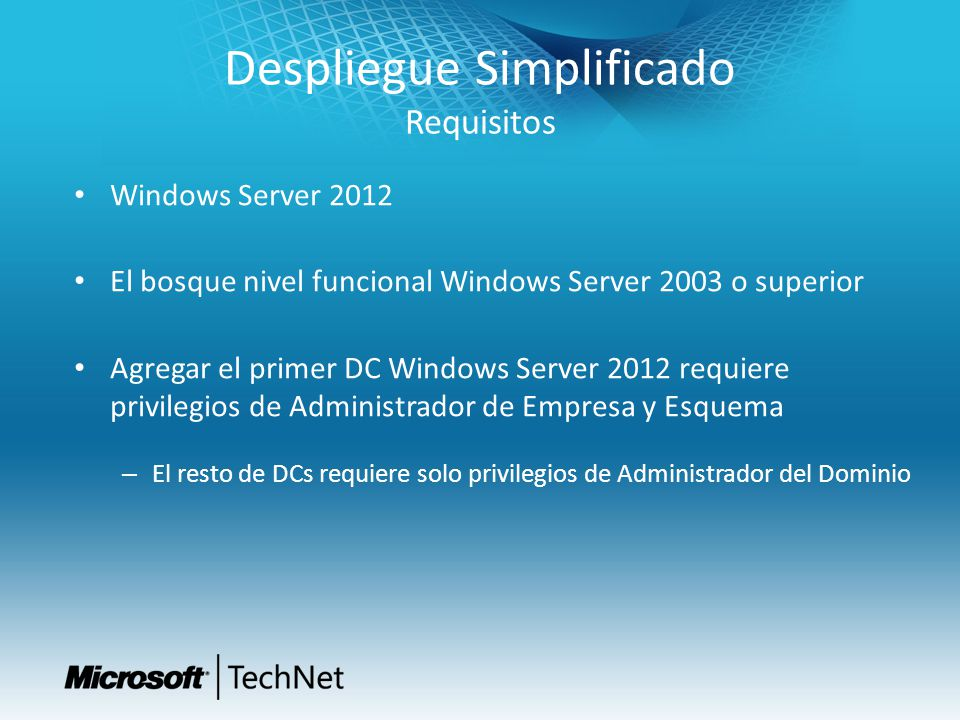 Más TechNet IT CAMPS http://bit.ly/ITCamps2012 Registro en futuros webcasts http://technet.microsoft.com/es-es/bb291010.aspx Suscripción al boletín TechNet Flash http://www.microsoft.com/spain/technet/boletines/default.mspx TechCenters de TechNet (información de productos) http://technet.microsoft.com/es-es/bb421517.aspx Suscripciones TechNet http://technet.microsoft.com/es-es/subscriptions/default.aspx