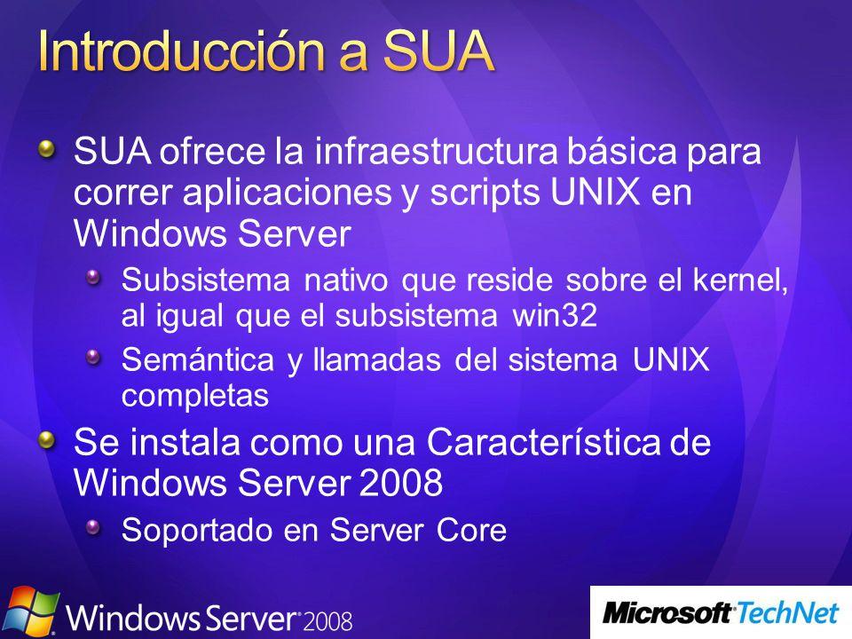 Se instala como una parte del Role de Directory Services de Windows Server 2008.