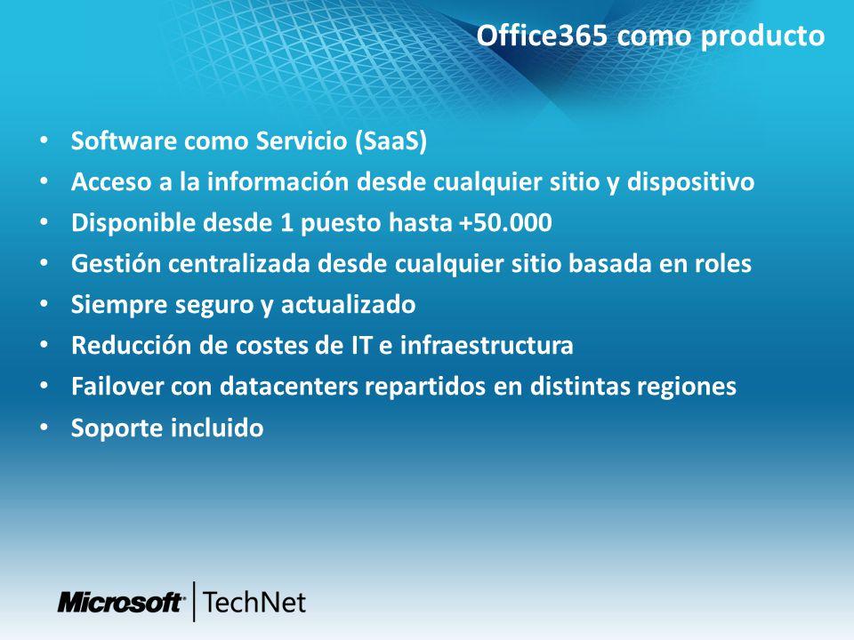 Software como Servicio (SaaS) Acceso a la información desde cualquier sitio y dispositivo Disponible desde 1 puesto hasta +50.000 Gestión centralizada