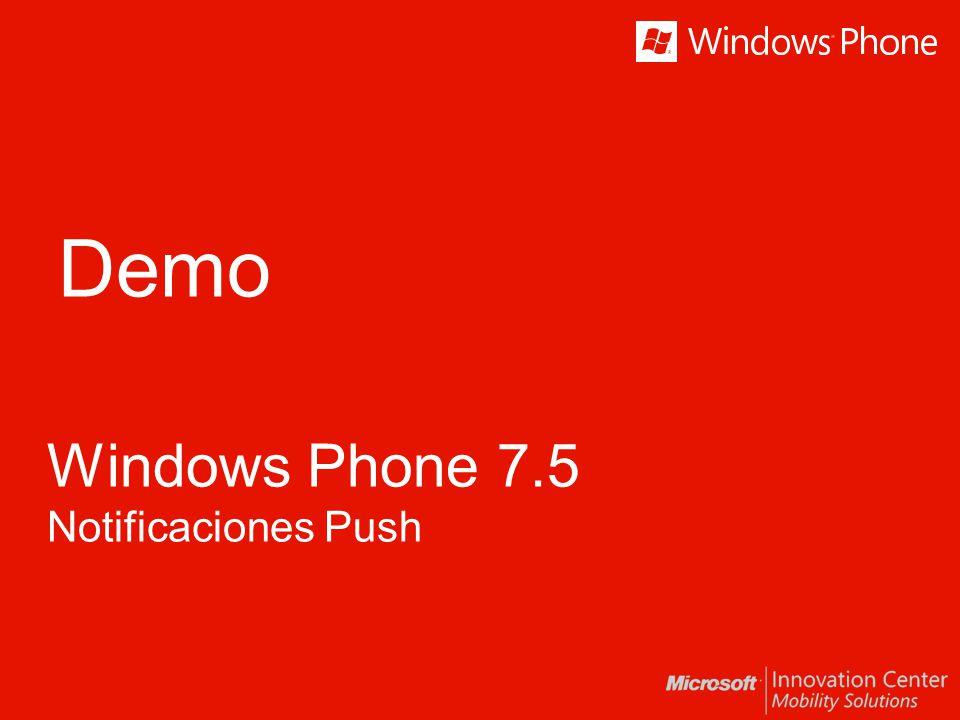 Demo Windows Phone 7.5 Notificaciones Push
