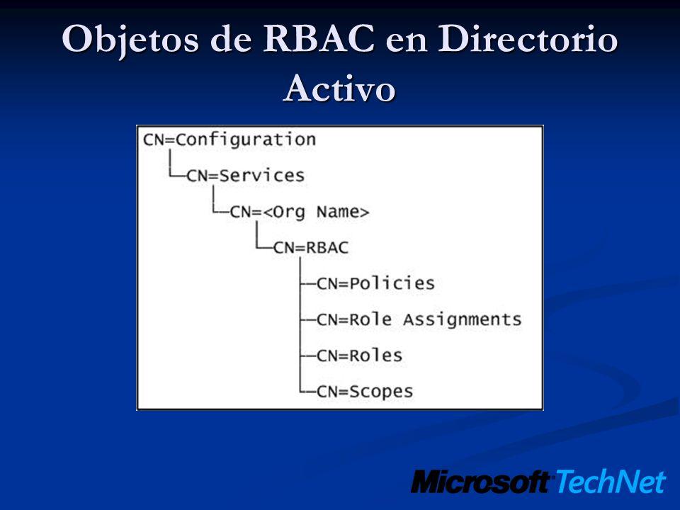 Objetos de RBAC en Directorio Activo