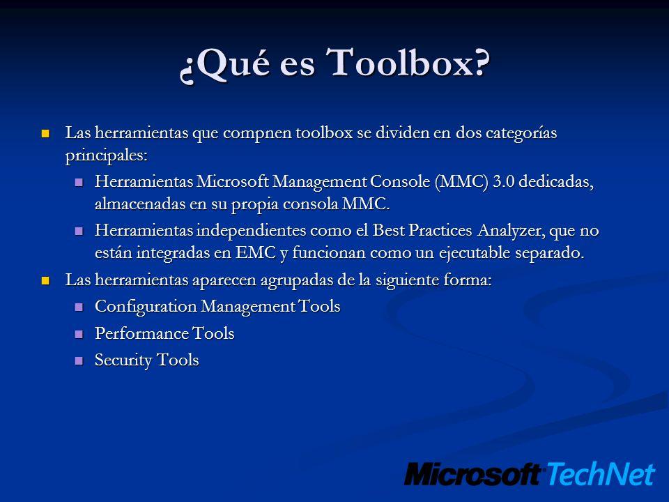 ¿Qué es Toolbox? Las herramientas que compnen toolbox se dividen en dos categorías principales: Las herramientas que compnen toolbox se dividen en dos