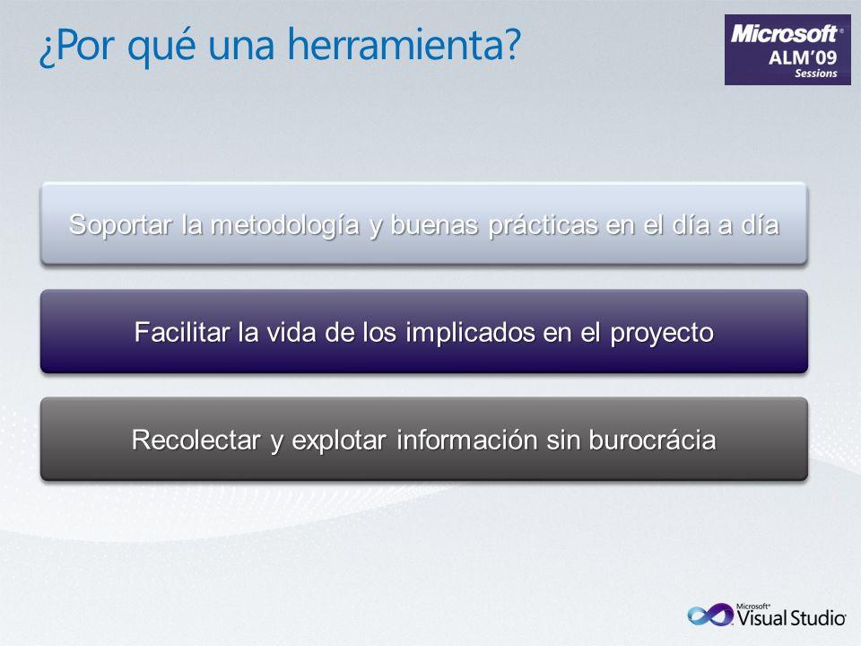 Soportar la metodología y buenas prácticas en el día a día Facilitar la vida de los implicados en el proyecto Recolectar y explotar información sin burocrácia