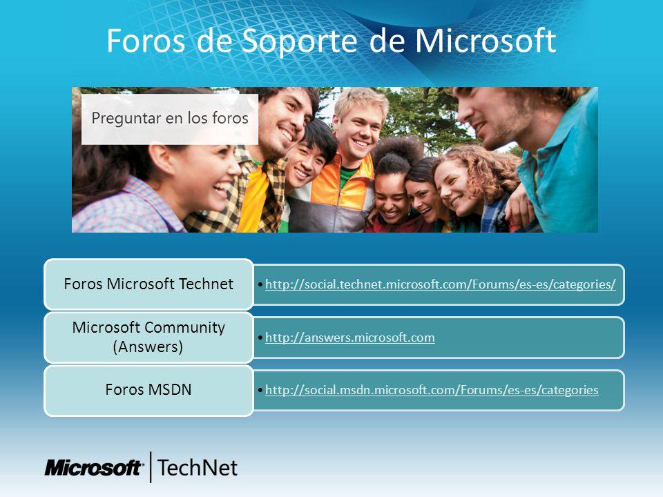 Foros de Soporte de Microsoft http://social.technet.microsoft.com/Forums/es-es/categories/http://social.technet.microsoft.com/Forums/es-es/categories/ Foros Microsoft Technet http://answers.microsoft.com Microsoft Community (Answers) http://social.msdn.microsoft.com/Forums/es-es/categories Foros MSDN