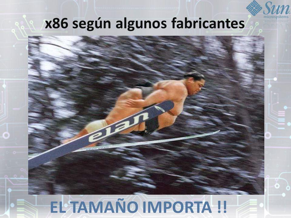 x86 según algunos fabricantes EL TAMAÑO IMPORTA !!