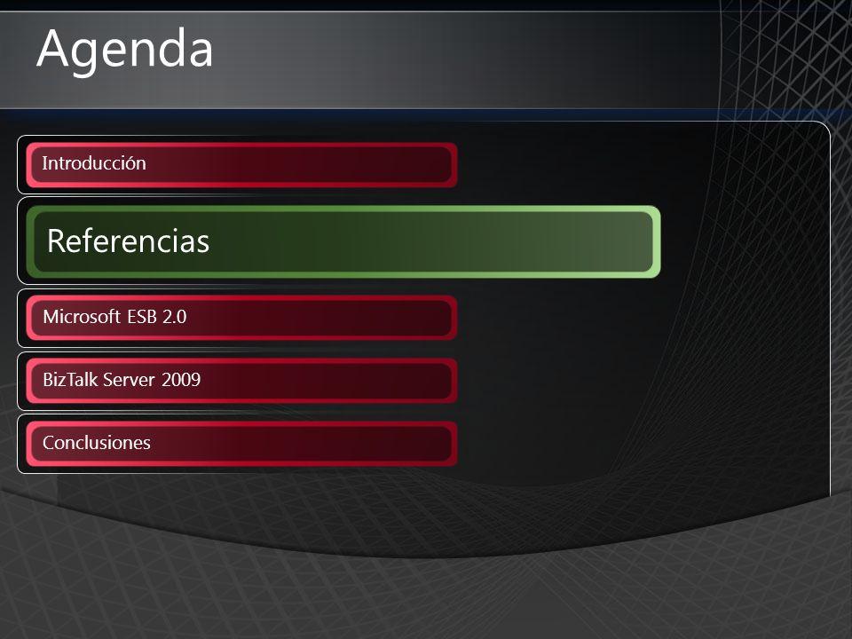 Agenda Introducción Referencias Microsoft ESB 2.0 BizTalk Server 2009 Conclusiones