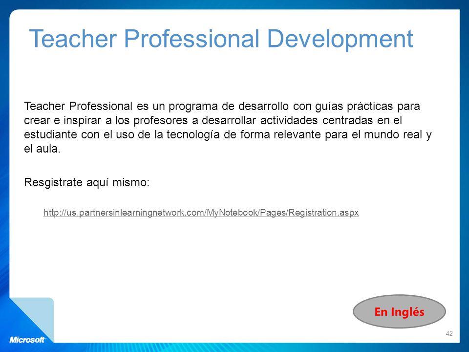 Teacher Professional es un programa de desarrollo con guías prácticas para crear e inspirar a los profesores a desarrollar actividades centradas en el