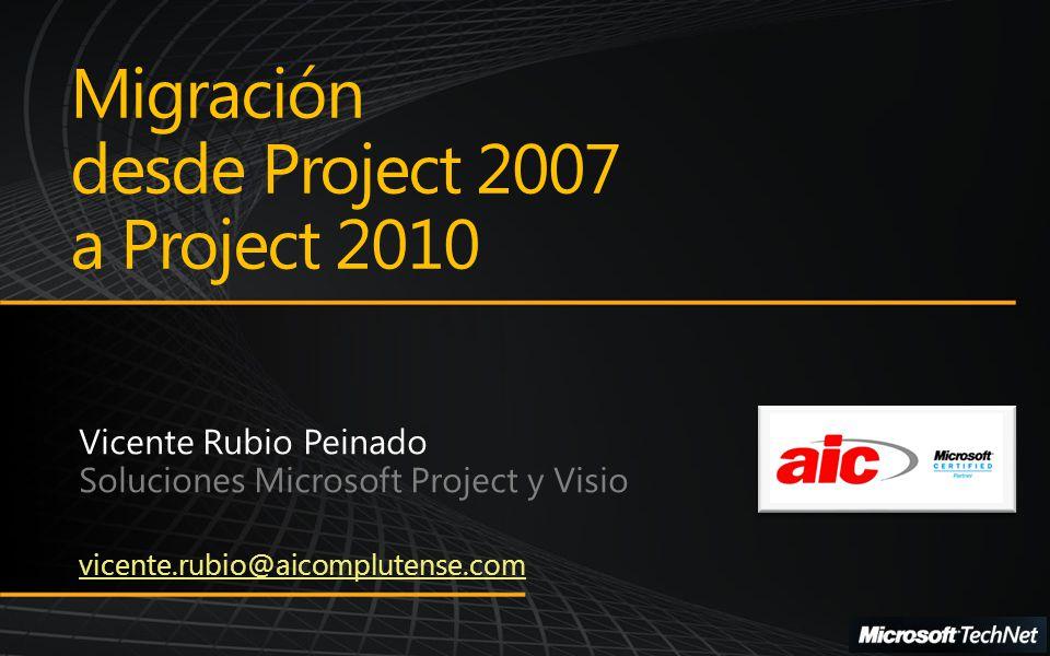 Migración desde Project 2007 a Project 2010