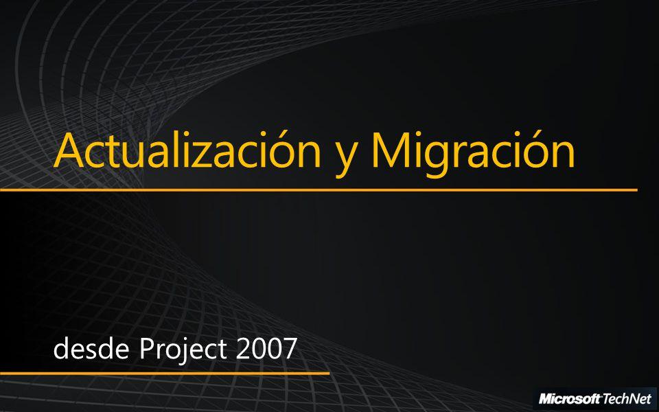 Migración desde Project 2007 a Project 2010 Métodos de Actualización