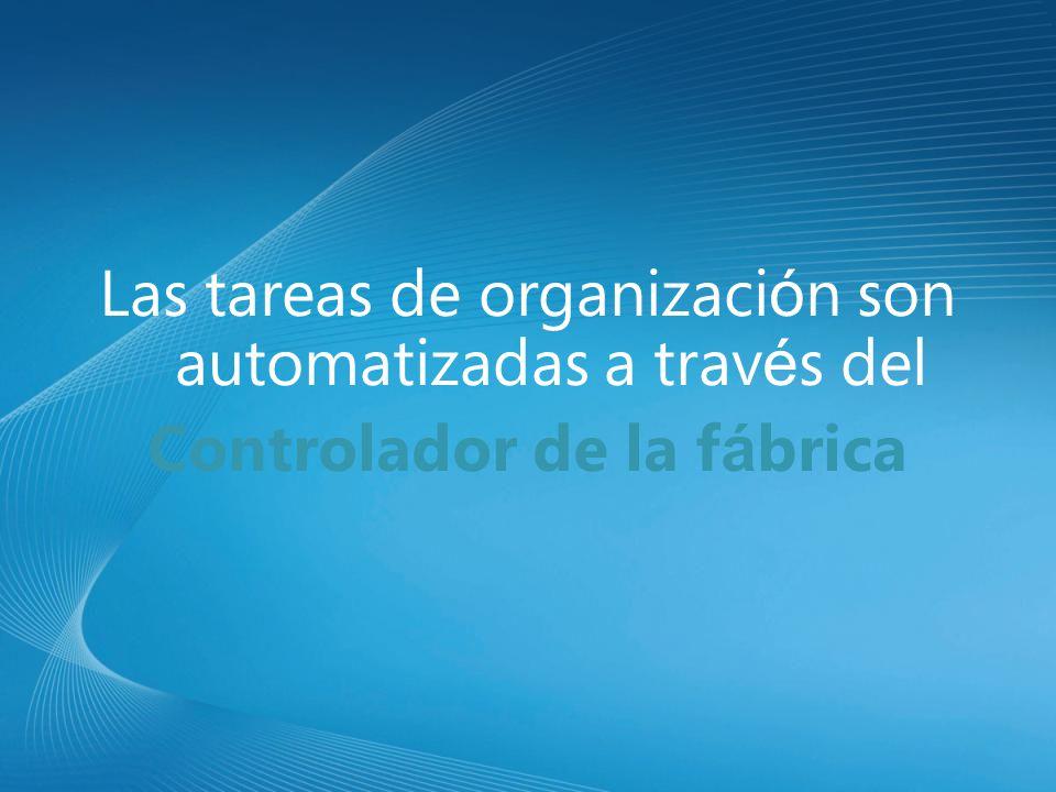 Las tareas de organizaci ó n son automatizadas a trav é s del Controlador de la f á brica