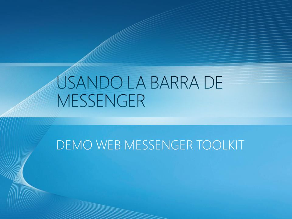 DEMO WEB MESSENGER TOOLKIT