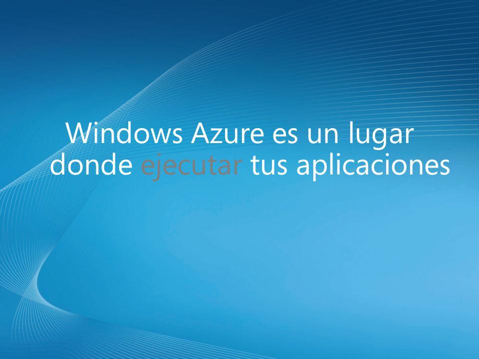 Windows Azure es un lugar donde ejecutar tus aplicaciones
