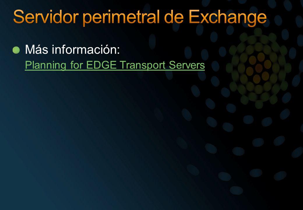 Más información: Planning for EDGE Transport Servers
