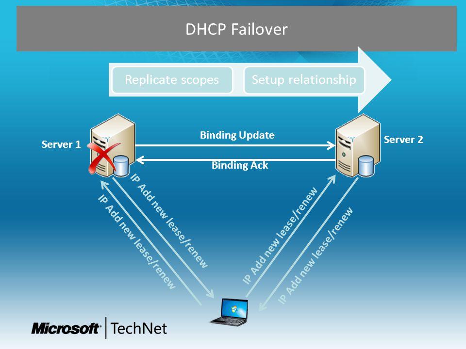 DHCP Failover Configuración Activa-Pasiva Server 1Server 2