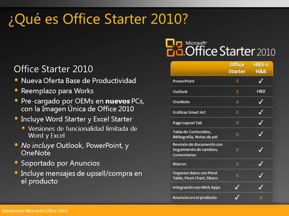 Vendiendo Microsoft Office 2010 Office Starter 2010 Nueva Oferta Base de Productividad Reemplazo para Works Pre-cargado por OEMs en nuevos PCs, con la