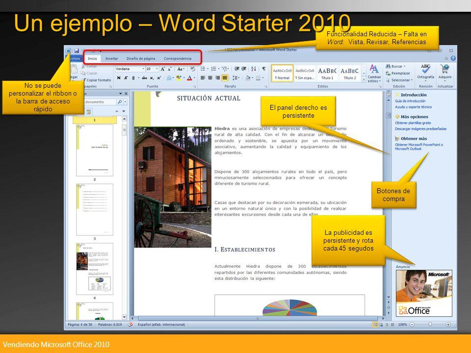 Vendiendo Microsoft Office 2010 Funcionalidad Reducida – Falta en Word: Vista, Revisar, Referencias Funcionalidad Reducida – Falta en Word: Vista, Rev